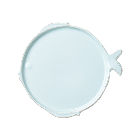 Lastra Fish Salad Plate Set of 4 - Aqua