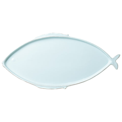 Lastra Fish Large Oval Platter - Aqua