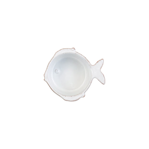 Lastra Fish Condiment Bowl - Set of 4 - White