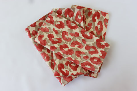 Sunset Animal Print Napkins  set of 4