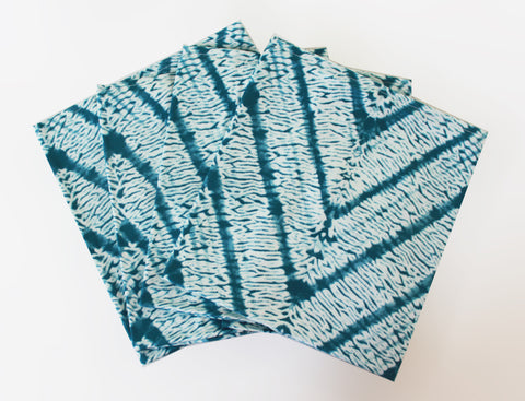 Teal Tye Dye Napkins  Set of 4