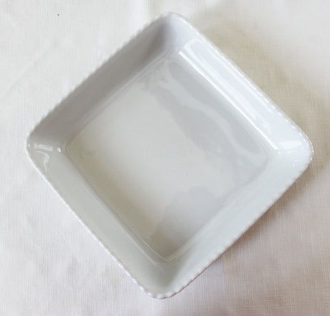 White Square Serving Bowl