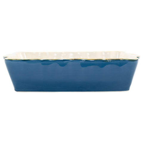 Italian Bakers Large Rectangular Baker - Blue