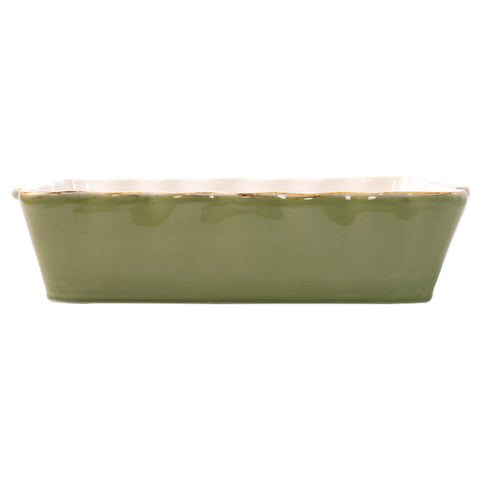 Italian Bakers Large Rectangular Baker - Green