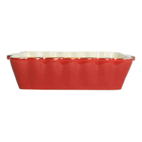 Italian Bakers Medium Rectangular Baker - Red