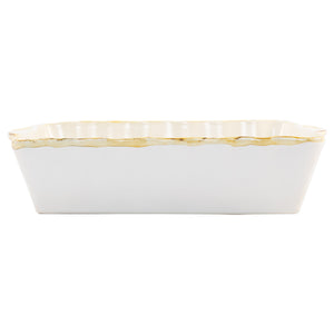 Italian Bakers Large Rectangular Baker - White