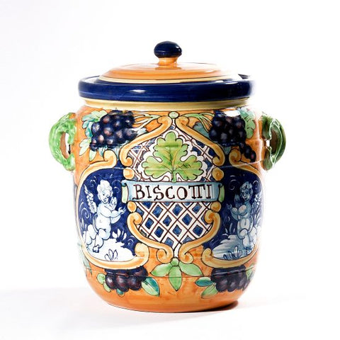 Biscotti Jar Large Grapes Accent