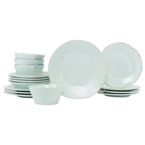 Lastra Dinnerware - Serving for 4 - Aqua