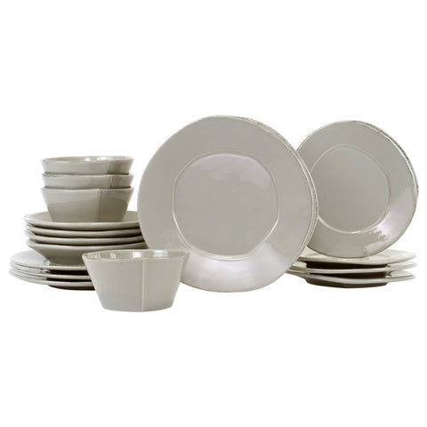 Lastra Dinnerware - Serving for 4 - Gray