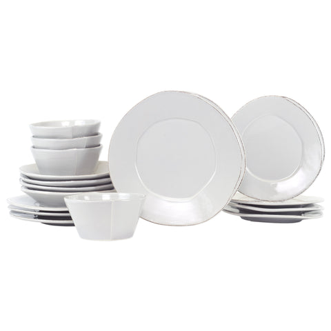 Lastra Dinnerware - Serving for 4 - Light Gray