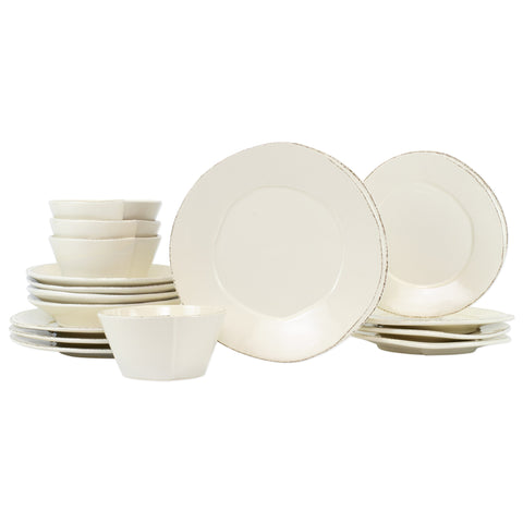 Lastra Dinnerware - Serving for 4 - Linen