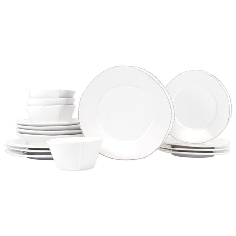 Lastra Dinnerware - Serving for 4 - White