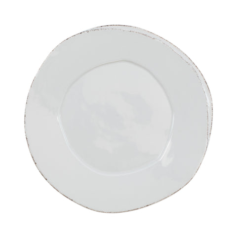 Lastra European Dinner Plate - Set of 4 - Light Gray
