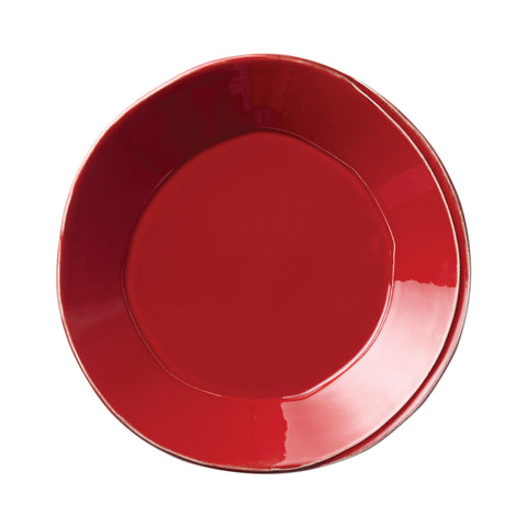Lastra European Dinner Plate - Set of 4 - Red