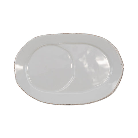 Lastra Oval Tray - Set of 4 - Light Gray