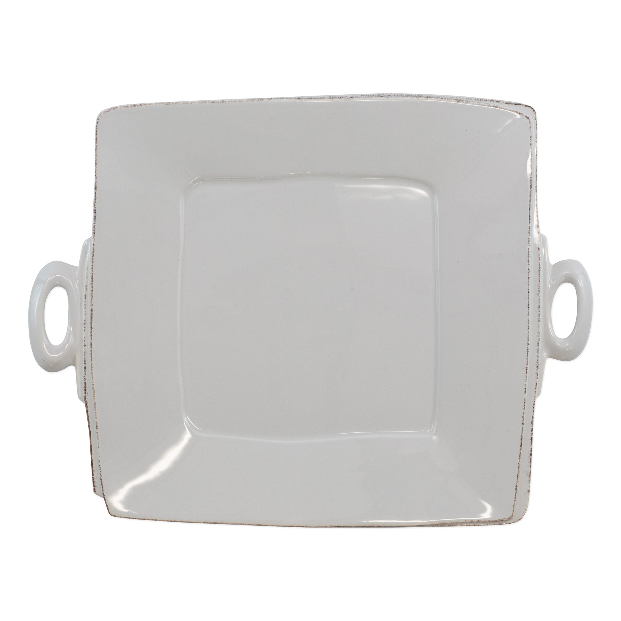 Lastra Square Handled Platter - Light Gray