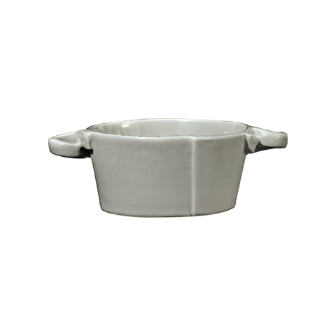 Lastra Small Handled Bowl  - Set of 4 - Gray