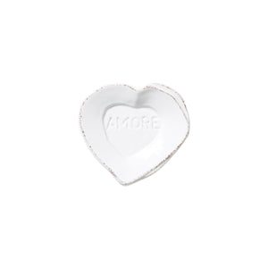 Lastra Heart Mini Amore Plate Available in White or Red
