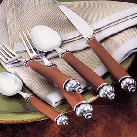 Medieval Brown 5 Piece Place Setting , Overstock/Clearance - Vietri, Pezzo Bello