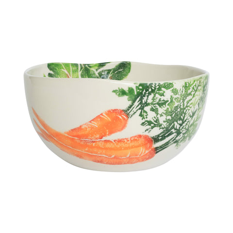 Spring Vegetables Deep Serving Bowl