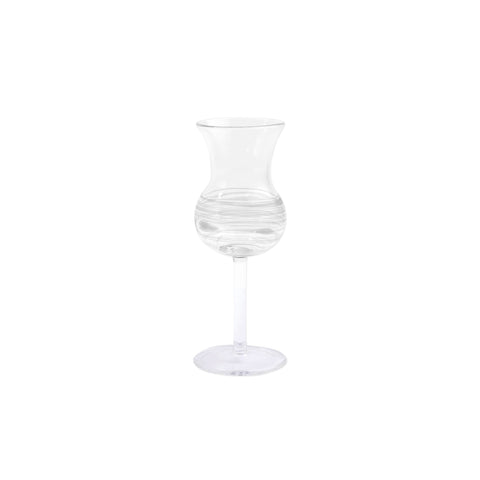 Swirl Limoncello Glass - Set of 4 - White