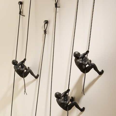 Climbing Men - Wall Mounted
