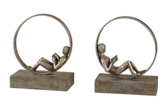 Lounging Reader Bookends - Set of 2 , Bookends - Uttermost, Pezzo Bello  - 2
