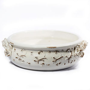 Terrazza Antique White Decorative Bowl