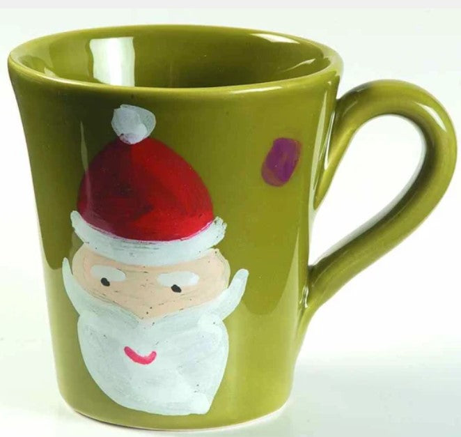Pallini Santa Mug Green Set of 4
