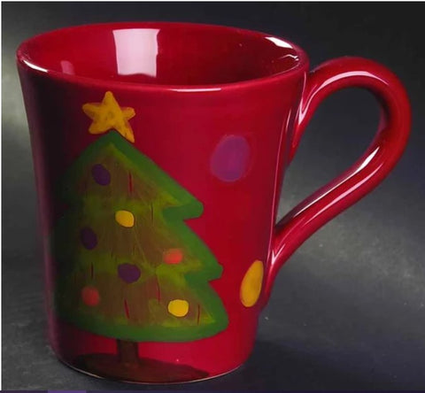 Pallini Red Tree Mug  Set of 4