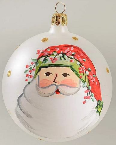 Old St. Nick Glass Ornaments  Set of 2