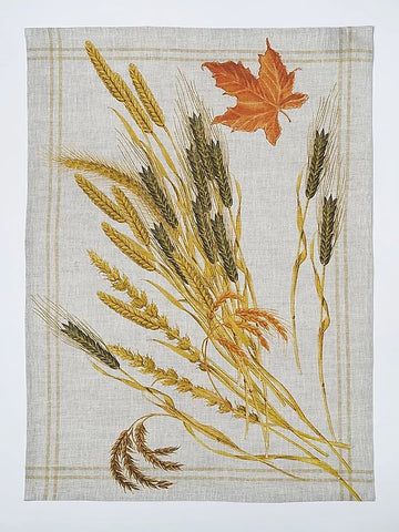 Autumn Grain Italian Linen Print Towel