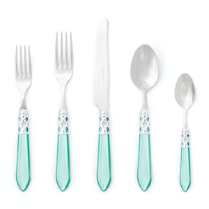 Aladdin Brilliant Five Piece Place Setting - Available in 13 Colors , flatware - Vietri, Pezzo Bello  - 4