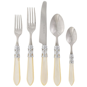 Aladdin Brilliant Five Piece Place Setting - Available in 13 Colors , flatware - Vietri, Pezzo Bello  - 13