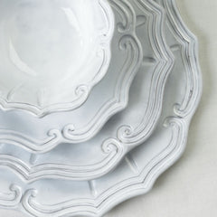 Incanto Baroque White Dinner Plate - Set of 4 , tableware - Vietri, Pezzo Bello  - 6