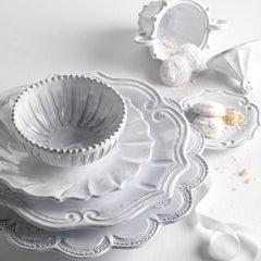 Incanto Baroque White Dinner Plate - Set of 4 , tableware - Vietri, Pezzo Bello  - 5