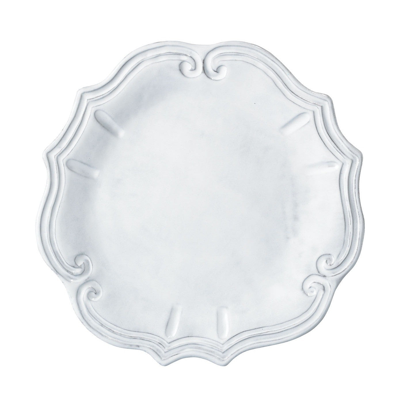 Incanto Baroque White Dinner Plate - Set of 4 , tableware - Vietri, Pezzo Bello  - 1