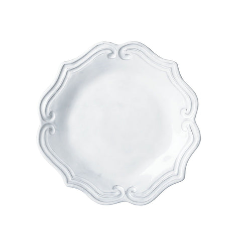 Incanto Baroque White Salad Plate - Set of 4 , tableware - Vietri, Pezzo Bello  - 1