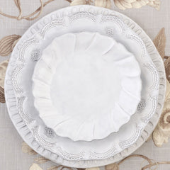 Incanto Ruffle Salad Plate - Set of 4 , tableware - Vietri, Pezzo Bello  - 4
