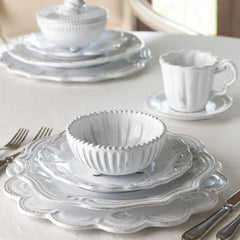 Incanto Stripe White Footed Bowl - Set of 4 , tableware - Vietri, Pezzo Bello  - 8