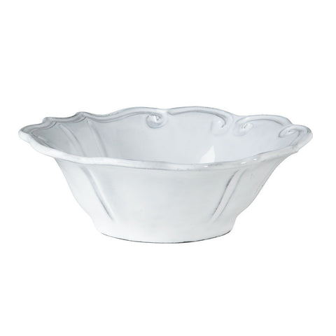 Incanto Baroque White Cereal Bowl - Set of 4 , tableware - Vietri, Pezzo Bello  - 1