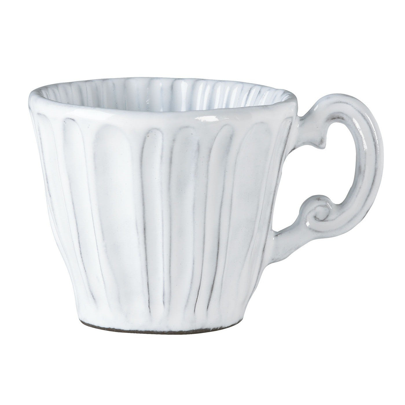 Incanto Stripe White Mug - Set of 4 , tableware - Vietri, Pezzo Bello  - 1