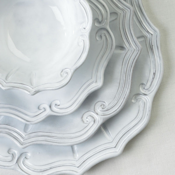 Incanto Baroque White Service Plate/Charger - Set of 4 , tableware - Vietri, Pezzo Bello  - 4