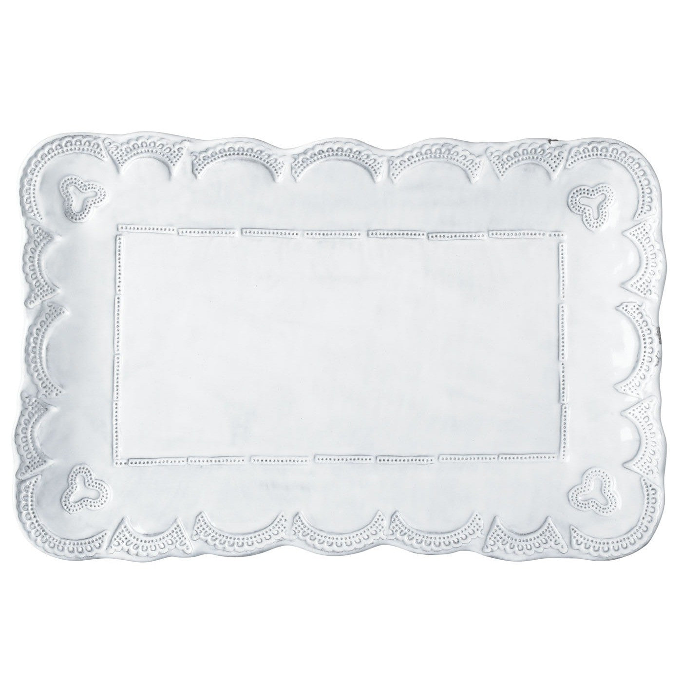 Incanto Lace Small Rectangular Platter , tableware - Vietri, Pezzo Bello  - 1