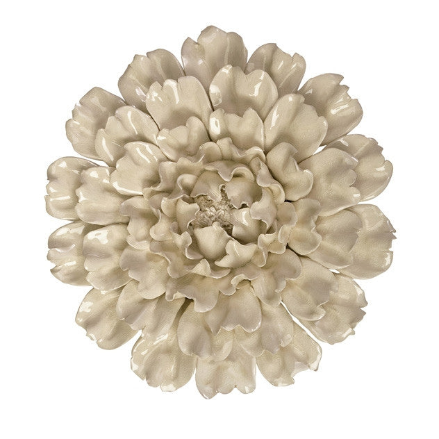 Isabella Large Ceramic Wall Decor Flower , wall art - IMAX, Pezzo Bello
