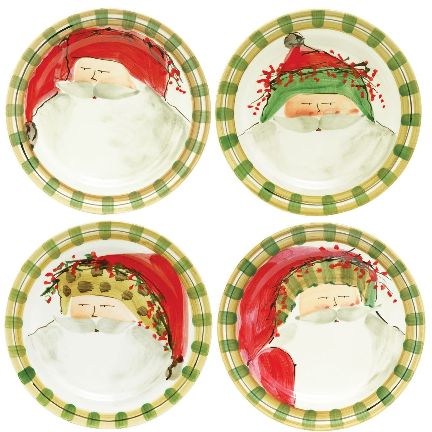 Old St. Nick Assorted Dinner Plates - Set of 4 Plates , Christmas - Vietri, Pezzo Bello  - 1