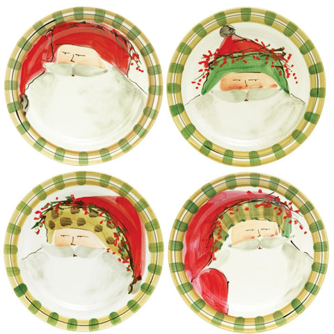 Old St. Nick Assorted Dinner Plates - Set of 4 Plates