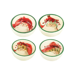 Old St. Nick Assorted Condiment Bowls - Set of 4 , Christmas - Vietri, Pezzo Bello  - 1