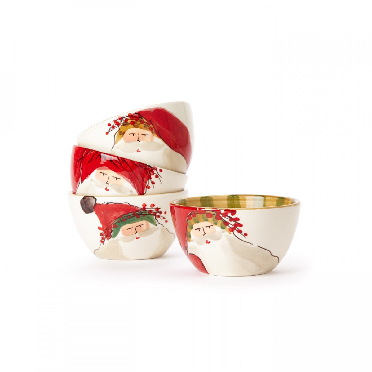 Old St. Nick Assorted Cereal Bowls - Set of 4 , Christmas - Vietri, Pezzo Bello  - 1