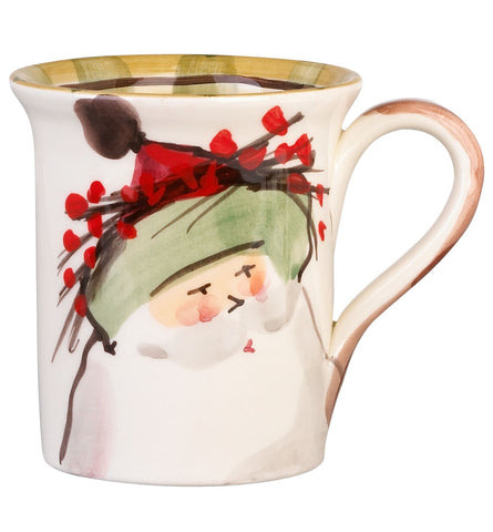 Old St. Nick Green Hat Mug - Set of 4 Mugs